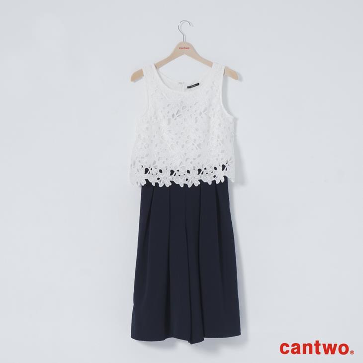 cantwo鏤空蕾絲無袖連身褲(共二色) 6