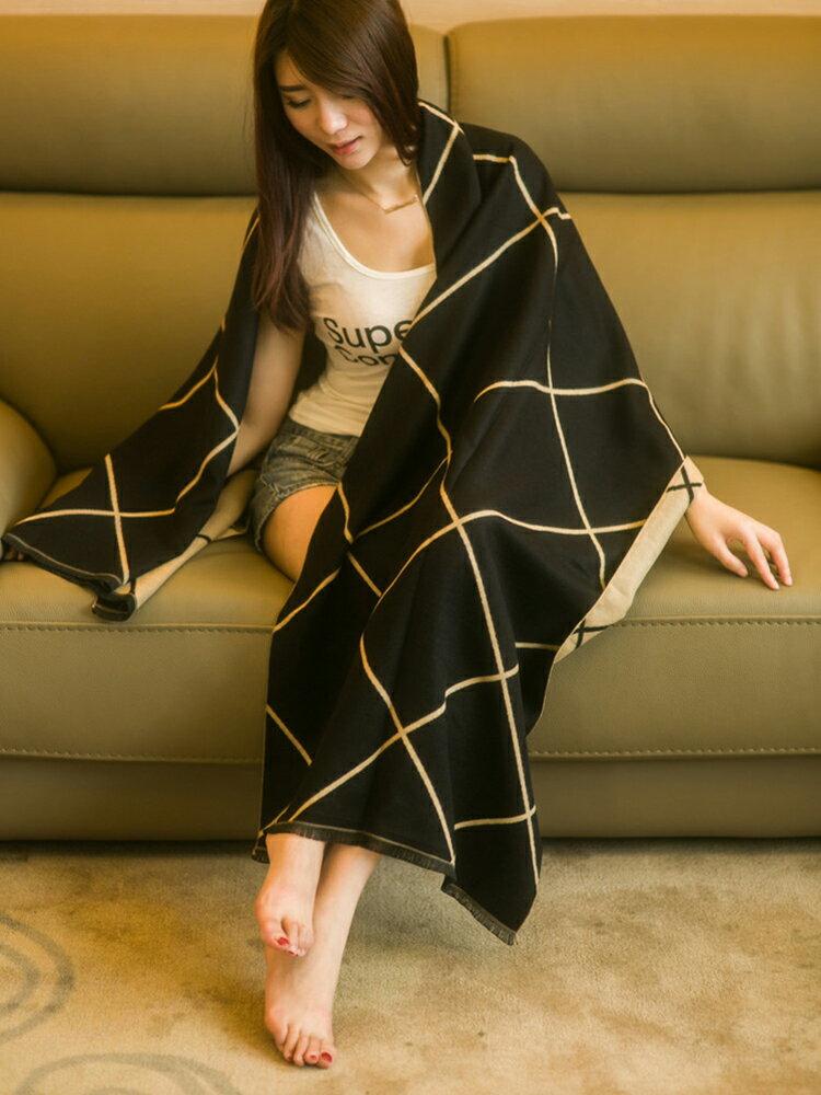 圍巾女韓版雙面格子夏季空調房披肩加厚兩用秋冬季百搭保暖大披風