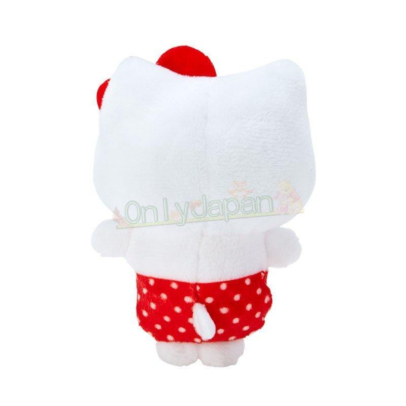 【真愛日本】4901610302804 絨毛手玉娃-KT紅ED91 凱蒂貓kitty 絨毛娃 手玉娃 娃娃 布偶 擺飾 收藏 禮物 1
