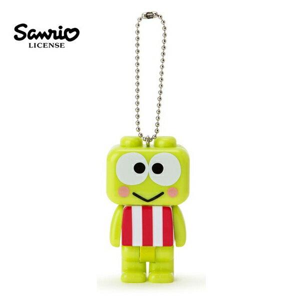 【日本正版】大眼蛙積木造型手電筒吊飾三麗鷗Sanrio-616857