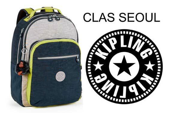 OUTLET代購【KIPLING】時尚經典Seoul旅行袋 斜揹包 肩揹包 後揹包 黃藍 0