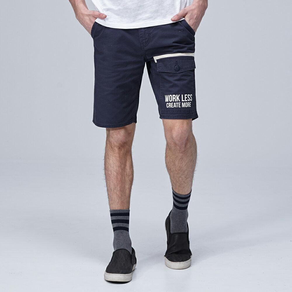 ❤短褲$990❤Lee  休閒短褲 902 多口袋文字印刷 男 深藍 1