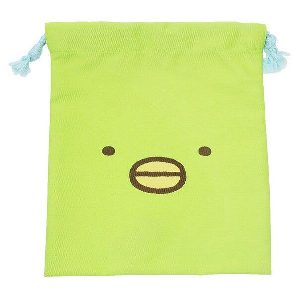 【角落生物束口袋】角落生物 綠企鵝款 束口袋 收納袋  該該貝比  ☆