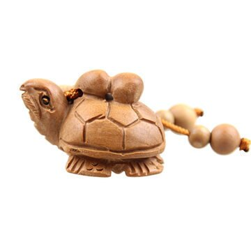 開光桃木 長龜葫蘆 鑰匙扣 掛件  福祿吉祥