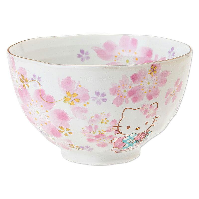 【真愛日本】15081400041 美濃燒碗-櫻花 三麗鷗 Hello Kitty 凱蒂貓 碗 便當餐盒組