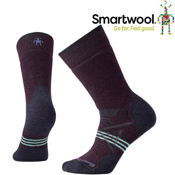 Smartwool羊毛襪排汗襪保暖襪子美麗諾羊毛女款PhD戶外中級減震中長襪SW01064590葡萄紫