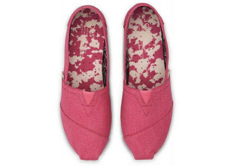 【TOMS】粉紅色花底帆布休閒鞋  Pink Earthwise Women's Vegan Classics 2