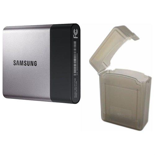 """Samsung T3 Portable 2TB SSD 2.0TB USB 3.1 External Solid State Drive MU-PT2T0B + 2.5"""" SSD case 0"""