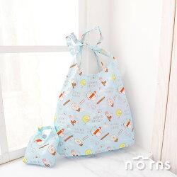 【角落生物折疊式環保購物袋 讀書篇】Norns 日本進口SAN-X 大容量 加厚防潑水 手提袋 旅行收納 肩背手提兩用包 Eco bag
