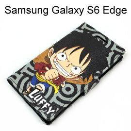 海賊王支架皮套 [R03] Samsung G9250 Galaxy S6 Edge 航海王 魯夫【台灣正版授權】