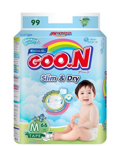 日本大王GOO.N 國際版黏貼型紙尿褲M66片(串) -芯衣童裝