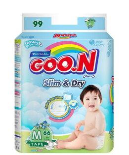 芯衣草童裝:日本大王GOO.N國際版黏貼型紙尿褲M66片(串)-芯衣童裝