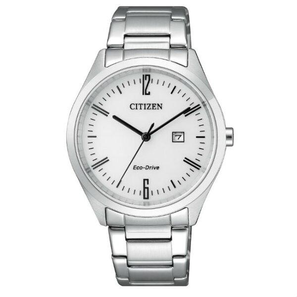 CITIZEN星辰錶EW2450-84A現代簡約光動能腕錶白面35mm