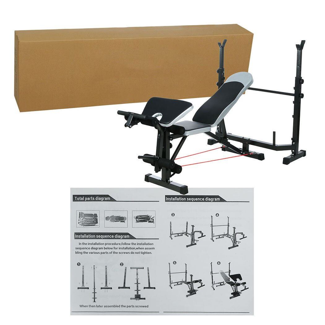 Mid-Width Bench Arms Height Adjustable Fitness Home Use 5