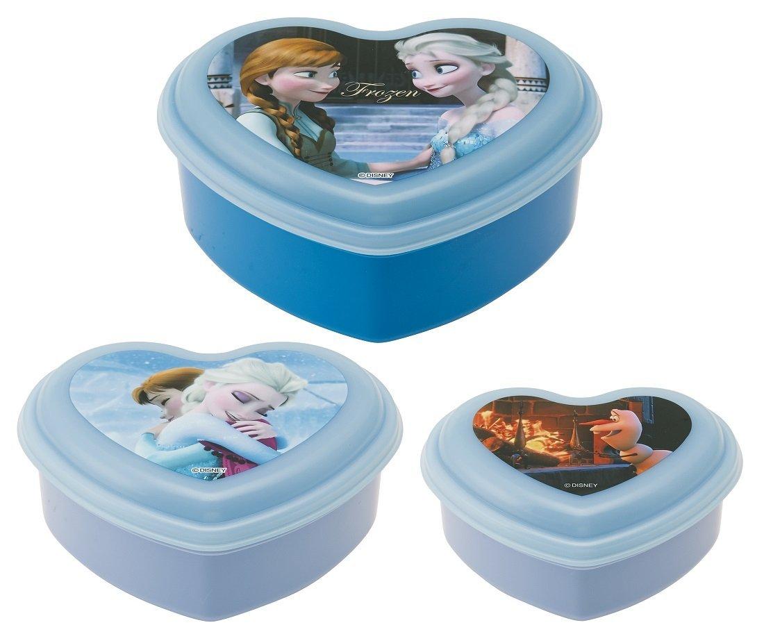 X射線【C291869】冰雪奇緣塑膠密封容器(3入保鮮盒),餐具組/環保餐具/開學必備/環保餐具/Elsa/便當盒