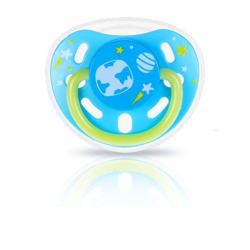 ★衛立兒生活館★kidsme 夜光安撫奶嘴-藍9個月以上使用