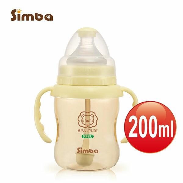 【捷思貝 親子寵物家居】小獅王辛巴 PPSU自動把手寬口葫蘆小奶瓶(200ml)