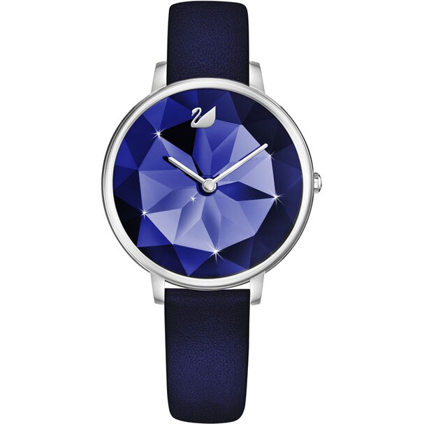 Swarovski 施華洛世奇  Crystal Lake  5416006 真皮時尚錶 / 藍 35 mm