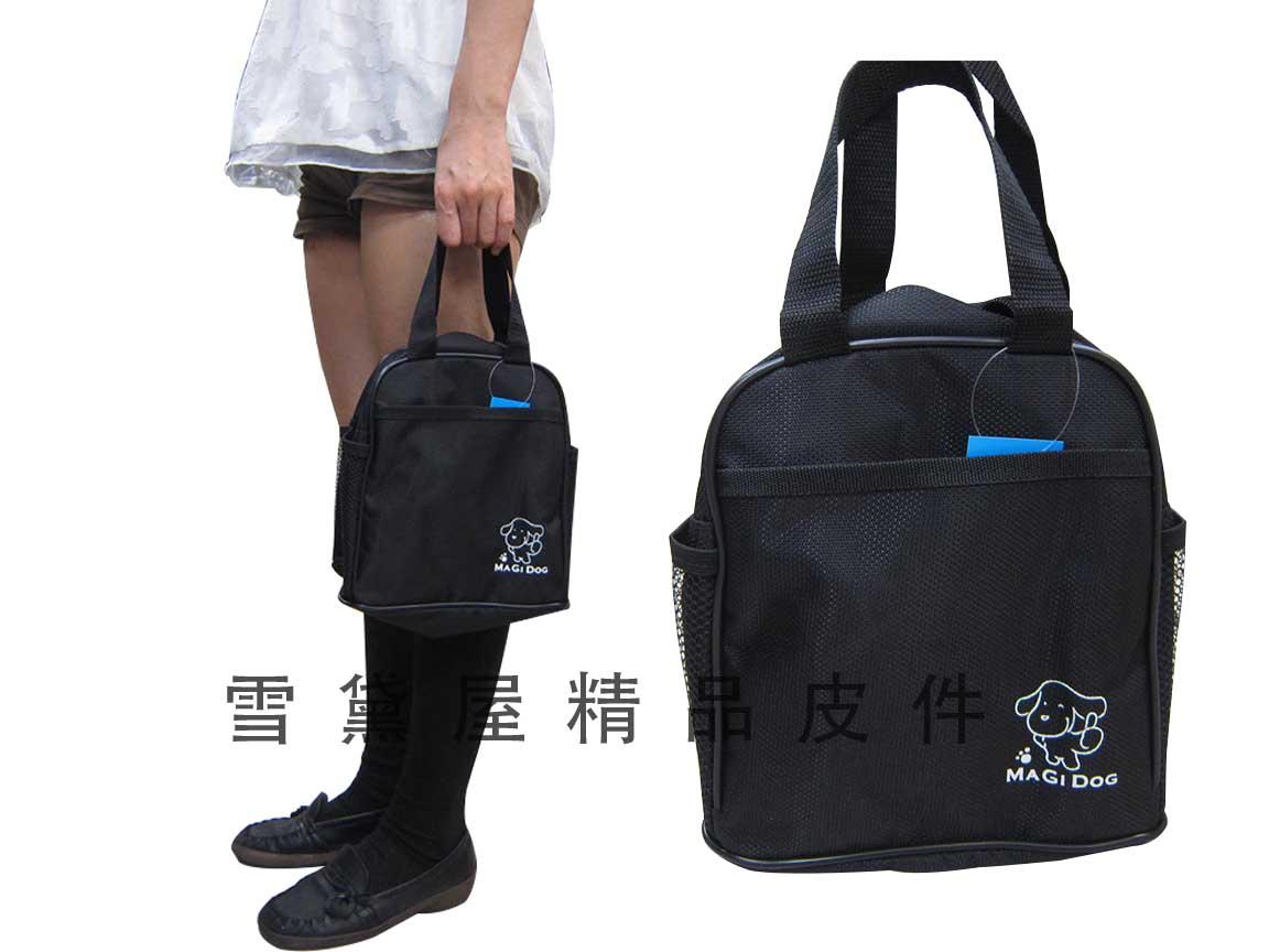 ~雪黛屋~MAGIDOG 便當袋餐袋手提簡易袋可放水瓶台灣製造品質保證防水尼龍布材質兒童成人均適用 #4744