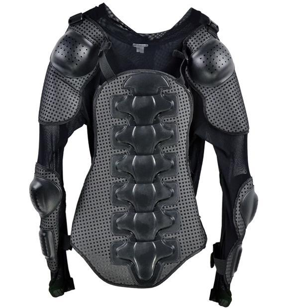 Racing Motorcycle Full Body Armor Spine Chest Protective Jacket Gear Size L 0