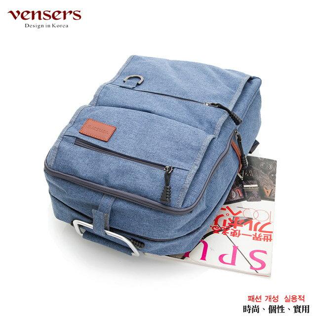 【vensers】簡約丹寧牛仔後背包(R00066103牛仔藍) 2