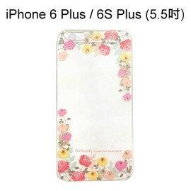 施華洛世奇彩鑽透明軟殼 [粉彩玫瑰] iPhone 6 Plus / 6S Plus (5.5吋)