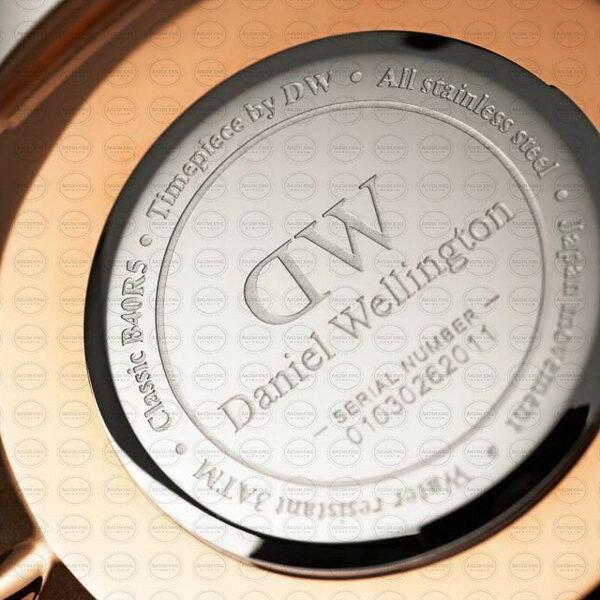40MM 0129DW 黑錶面 玫瑰金邊 真皮黑錶帶 瑞典正品代購 Daniel Wellington 男錶手錶腕錶 2