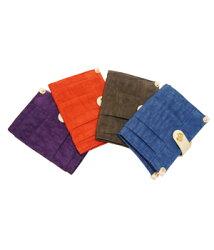 CORRE - 簡約時尚漾彩抓摺扣式短夾-共4色