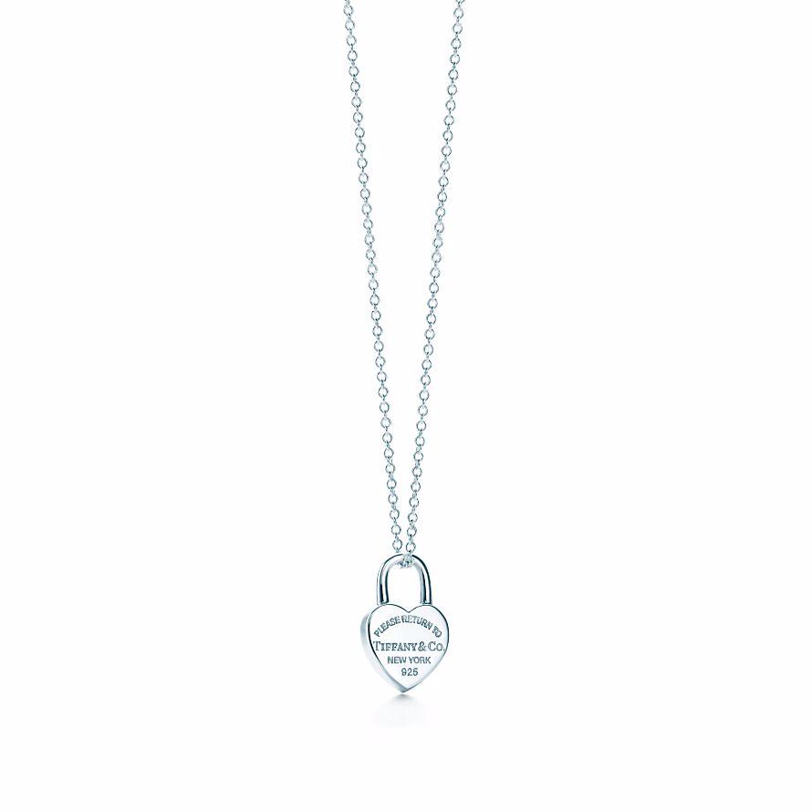 美國百分百【全新真品】Tiffany & Co. 項鍊 心形鎖 鍊墜 純銀 墜飾 吊飾 銀飾 禮物 精品 C666