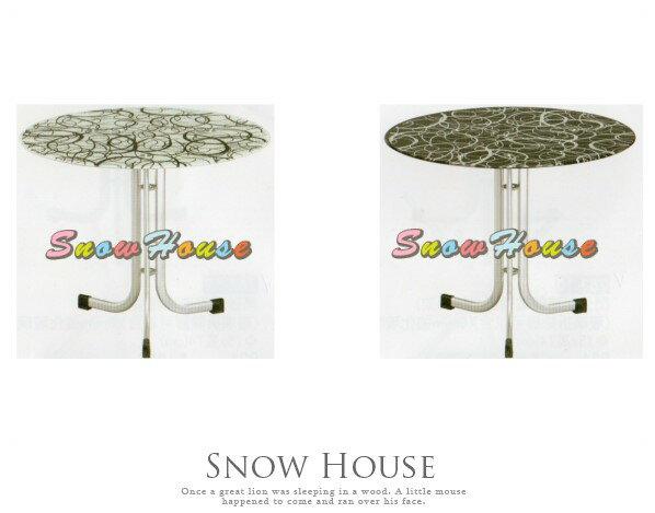 ╭☆雪之屋居家生活館☆╯AA762-060708閃光銀扁管玻璃圓桌(409架)置物桌咖啡桌洽談桌三色