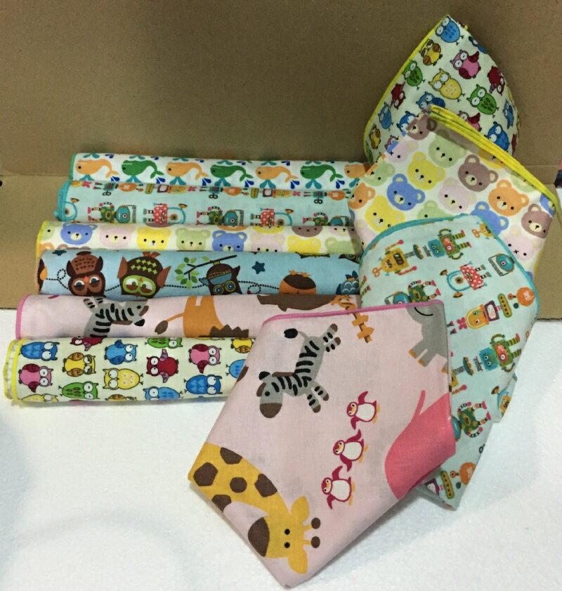 『日本代購品』多款可愛圖案加厚手帕布巾餵奶巾 隨機 44*44cm