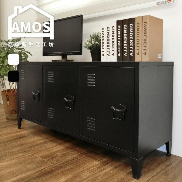 Amos 亞摩斯生活工坊:日系電視櫃置物櫃收納櫃【DAW014】120CM展示置物櫃Amos