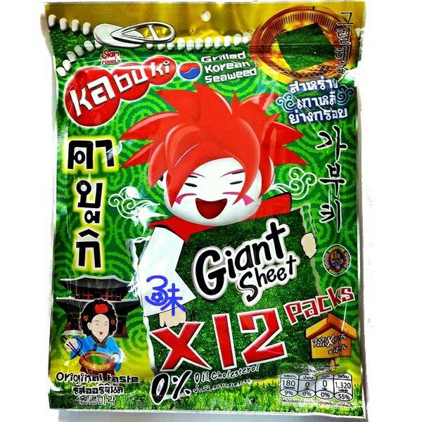 (泰國) kabuki 味覺百撰 好大片鮮脆脆海苔片(好大片脆海苔) 1包 60 公克(12片) 特價 89 元 【8855444003030 】