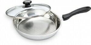 ★巧福新五層不鏽鋼平底鍋 30cm UC-530 白金網槽不黏鍋