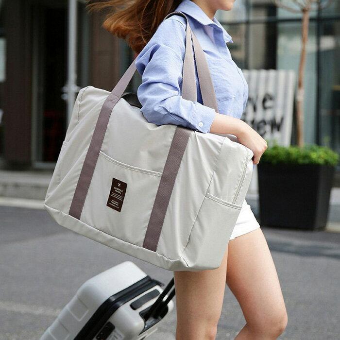 【酷創意】RONG超輕可折疊旅行包 購物單肩包手提包 加大行李包(E438)
