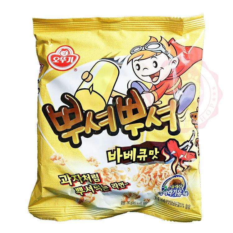 即期出清 ♥ 2/25到期 ♥ 韓國 不倒翁 燒烤味乾脆麵(90g)【庫奇小舖】