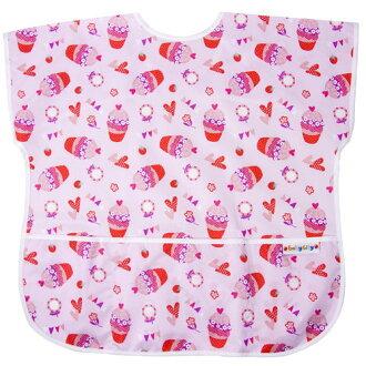 【點數下單送咖啡】Baby City娃娃城 - 防水短袖畫畫衣(3-5A) 紅色杯子蛋糕