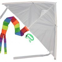 空白 彩繪 DIY風箏 一支 三角 進口