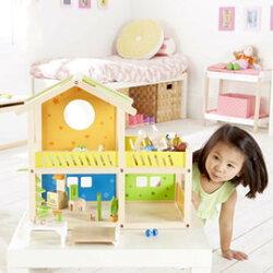 【德國Hape愛傑卡】娃娃屋系列我的快樂小屋(帶傢俱)