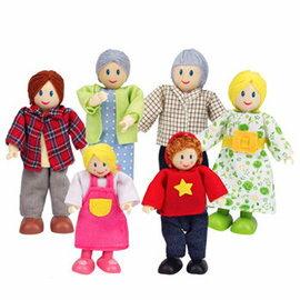 【德國Hape愛傑卡】人偶系列現代家庭-白人