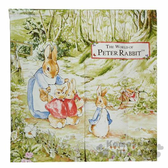 〔小禮堂〕彼得兔 中門簾《綠.兔媽媽.3隻寶寶》85x90cm