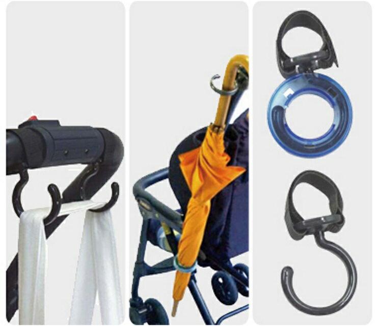 【寶貝樂園】日本製Akanbou 多用途掛勾附雨傘釦環(2入)