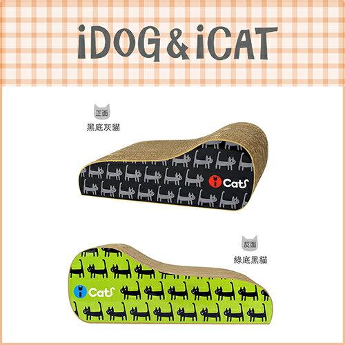 【日本ICAT】 雙面手繪感塗鴉貓抓板-貓走走