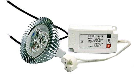 LED 光源~LED MR16杯燈 定電流 5W 12V 白光 黃光 含 變壓器~永旭照明