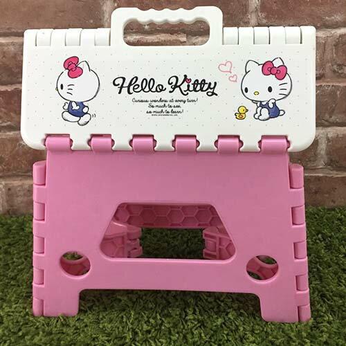 【真愛日本】17071800045 摺疊收納椅-KT素描圖粉 三麗鷗 Hello Kitty 凱蒂貓 收納椅 椅子 居家用品