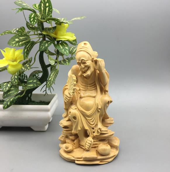 小葉黃楊木雕居家飾品擺件雕刻工藝中式裝飾禮品藝術佛像活佛濟公1入