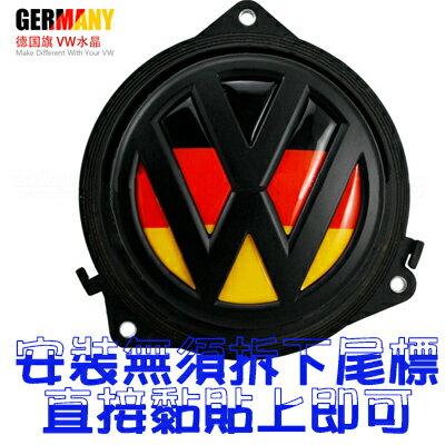 【沂軒精品】 VW LOGO 後行李箱尾〈 德國立體水晶浮標〉標誌polo golf tiguan Beetle passat jetta