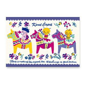 重安小舖:達拉馬與Buzzy(藍)【卡雷爾恰佩克KarelCapek】-山田詩子手繪明信片★
