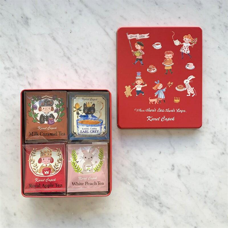 Tea Lovers禮盒組-紅 4種口味*5包【卡雷爾恰佩克Karel Capek 】山田詩子/紅茶/茶包★