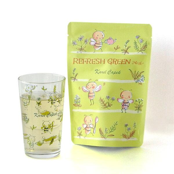 RefreshGreen-冷泡用花草茶茶包組3g*8入【卡雷爾恰佩克KarelCapek】山田詩子紅茶茶包